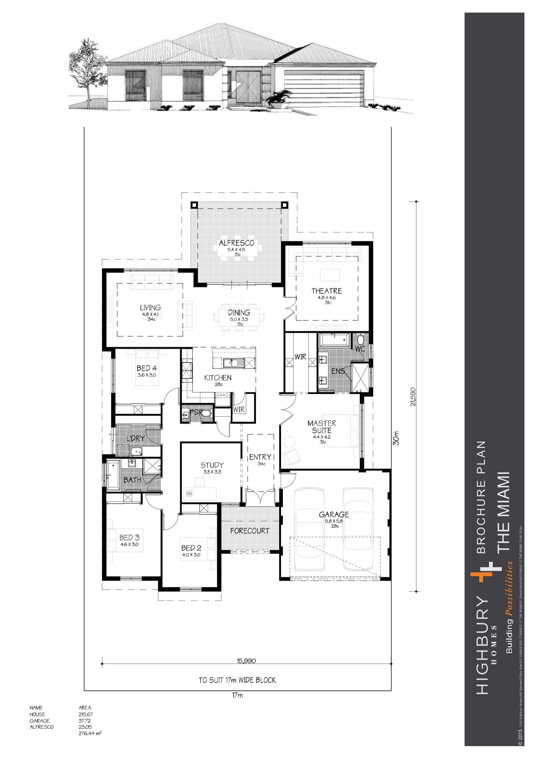 The Miami Double Storey Homes Perth Highbury Homes Storey Homes Best House Plans House Floor Plans