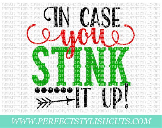 In Case You Stink It Up SVG DXF EPS png by