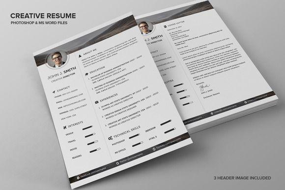 Creative Resume CV by SNIPESCIENTIST on Creative Market Resume - creative resume headers