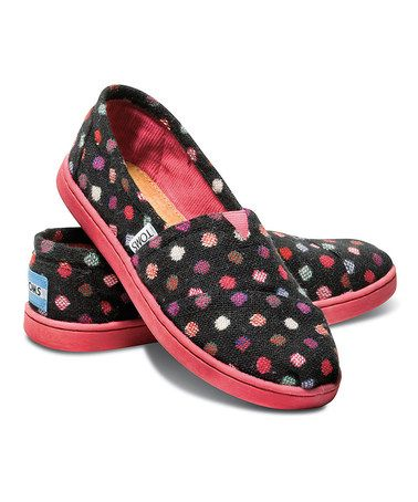 Another great find on #zulily! Pink Dot Wool Classics - Youth by TOMS #