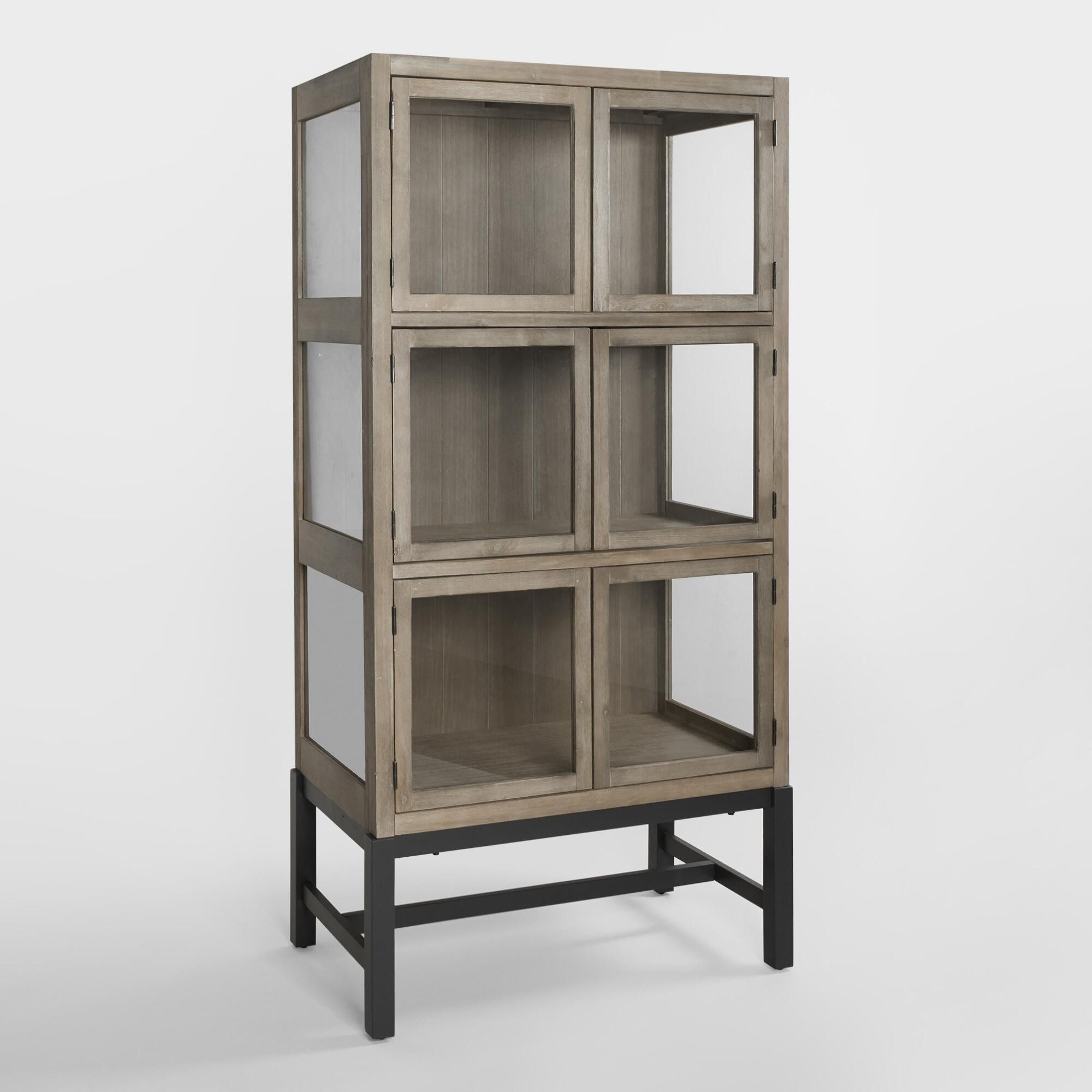 Wood and Glass Collectors Display Cabinet by World Market ...