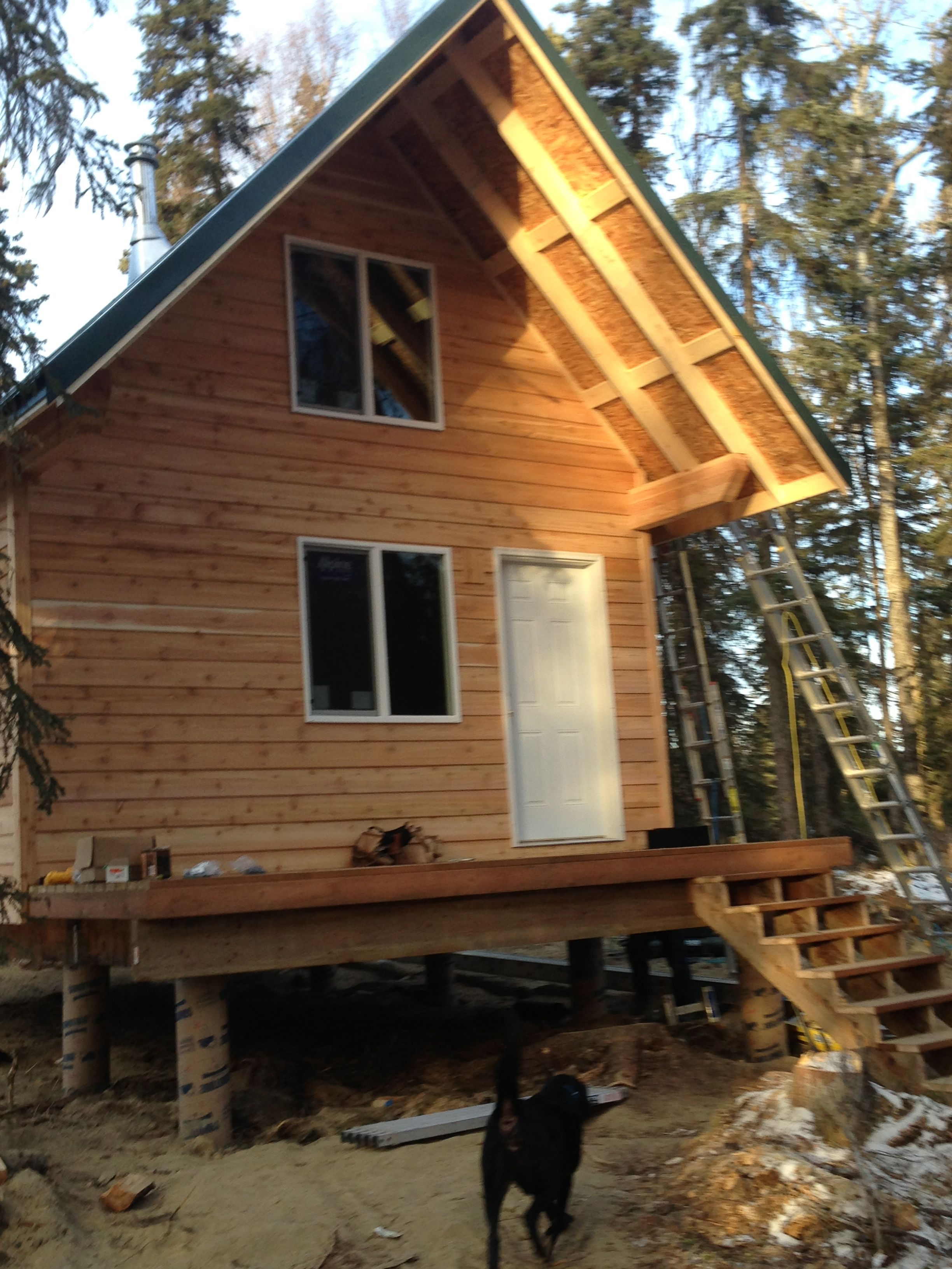 Wonderful image of Cabin exterior completed in 13 days by Jay Friesen Cabins! They did an  with #A48027 color and 2448x3264 pixels
