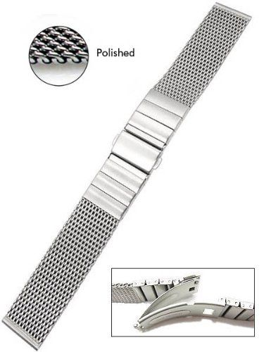 obtenir pas cher style populaire braderie Hirsch Polished Finish Mesh Bracelet 0503SH4 (20mm) | Watch ...