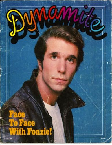 Wow!  Dynamite magazine - remember this?  Bought it through Scholastic Books at school.  I'm sure I had this issue - loved the Fonz.  :)