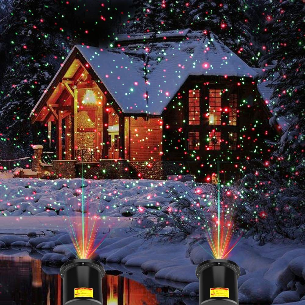 COOWOO Star Laser Projector Light Show Outdoor