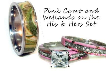 camoflauge hisher wedding rings - His And Her Camo Wedding Rings