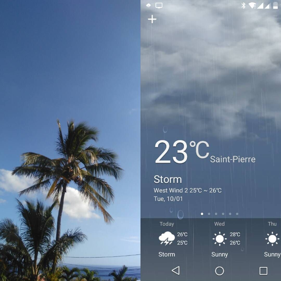 Reality Sunny Versus The Meteo App Rain Aka Google Is Not