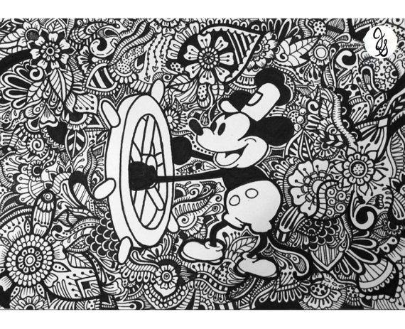 Disney Wedding Design | fhgh | Mandalas, Dibujos de disney y