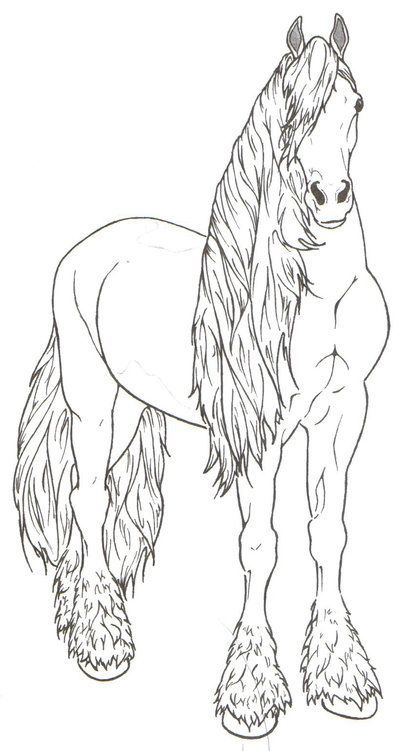 Friesian Horse By Requay On Deviantart Coloring Pages Pinterest