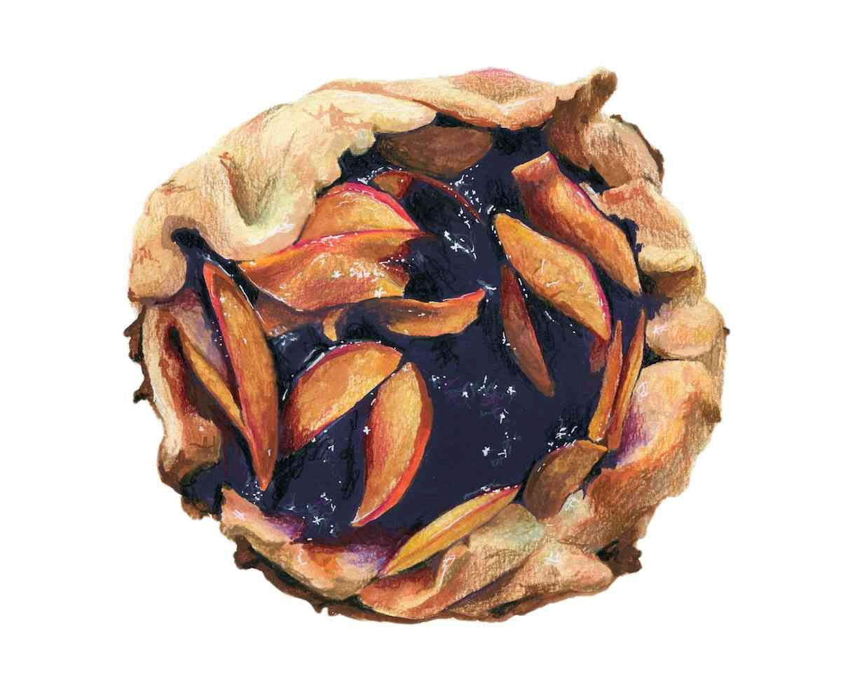Peach Blueberry Galette-- Kendyll Hillegas