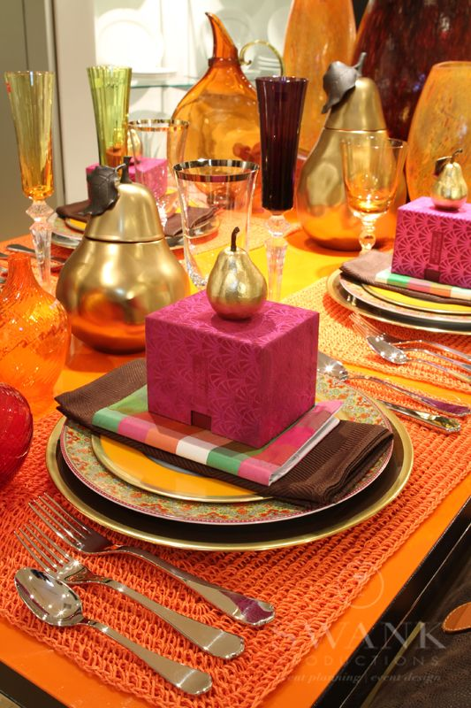 Planned Designed Produced By Swankproductions Modern Moroccan Table Setting For Bloomingdales NYC