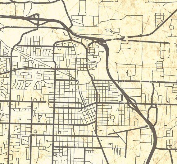 map of conway arkansas Conway Ar Canvas Print Arkansas Vintage Map Conway City Map map of conway arkansas