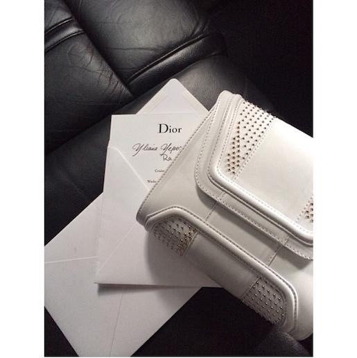Mini Giovanna White Metallic Studs   Holiday Resort 15 Collection   #YYMiniGiovana #Dior