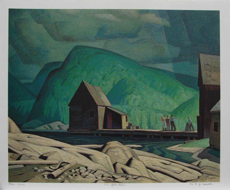 Alfred Joseph Casson Groupe De Sept Art Canadien Peinture Paysage