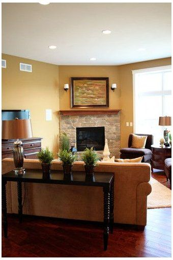 living room furniture layout with tv over fireplac