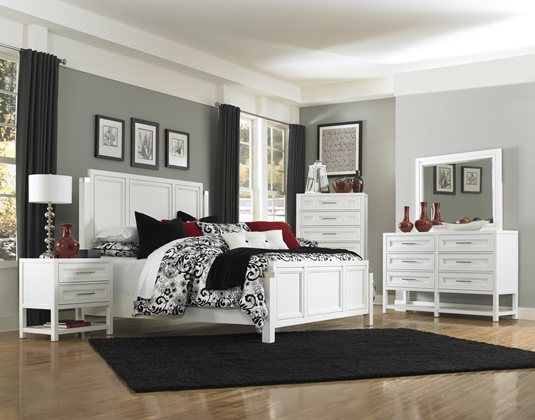 Kane S Furniture Clearwater White Queen Panel Bedroom With