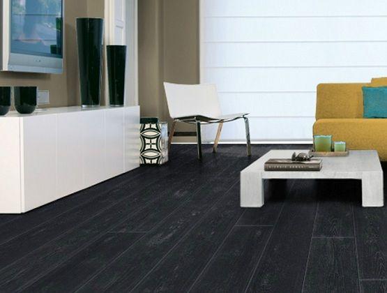 black vinyl flooring planks for living room with