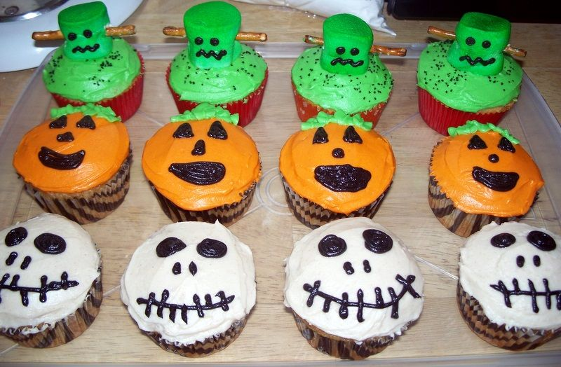 simple halloween cupcakes ideas