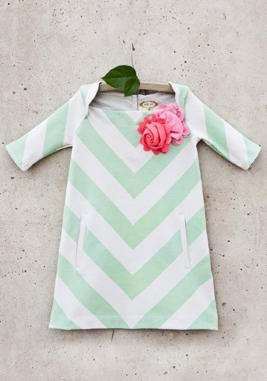 Girls Spring Chevron Pocket Dress 3 Years ONLY - Girls Easter & Summer 2014 Collection