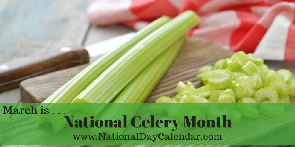 National Celery Month March National Day Calendar Celery Recipes Chopped Salad