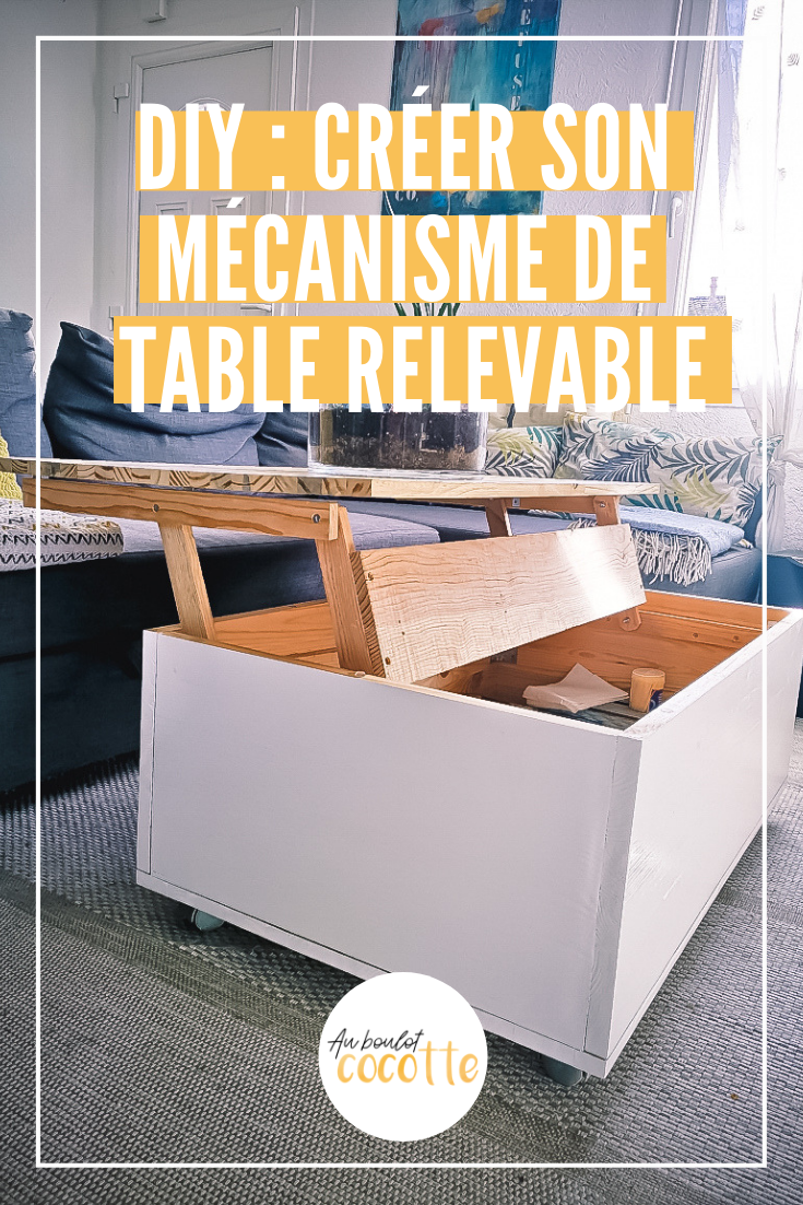 Diy Creer Un Mecanisme De Table Elevatrice A Faire En 2020 Table Relevable Table Basse Relevable Table Basse