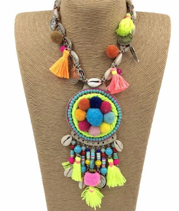 40020cc776d1 collar étnico caracoles