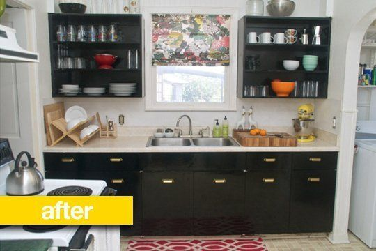 Rental kitchen? Chalkboard contact paper on cabinets. | Kitchen ...