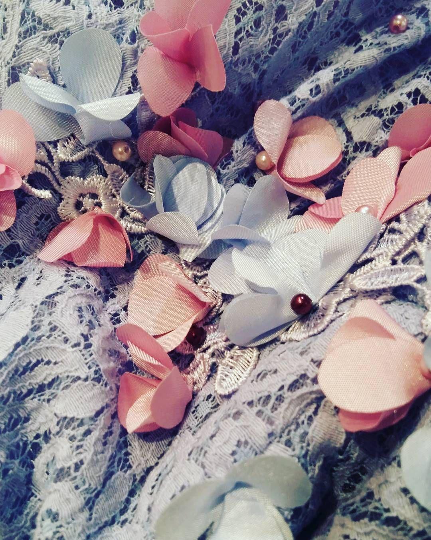 Все элементарно,но вышло Живописно!)#творческийбеспорядок #творчество #цветы #платье ##платьеназаказ