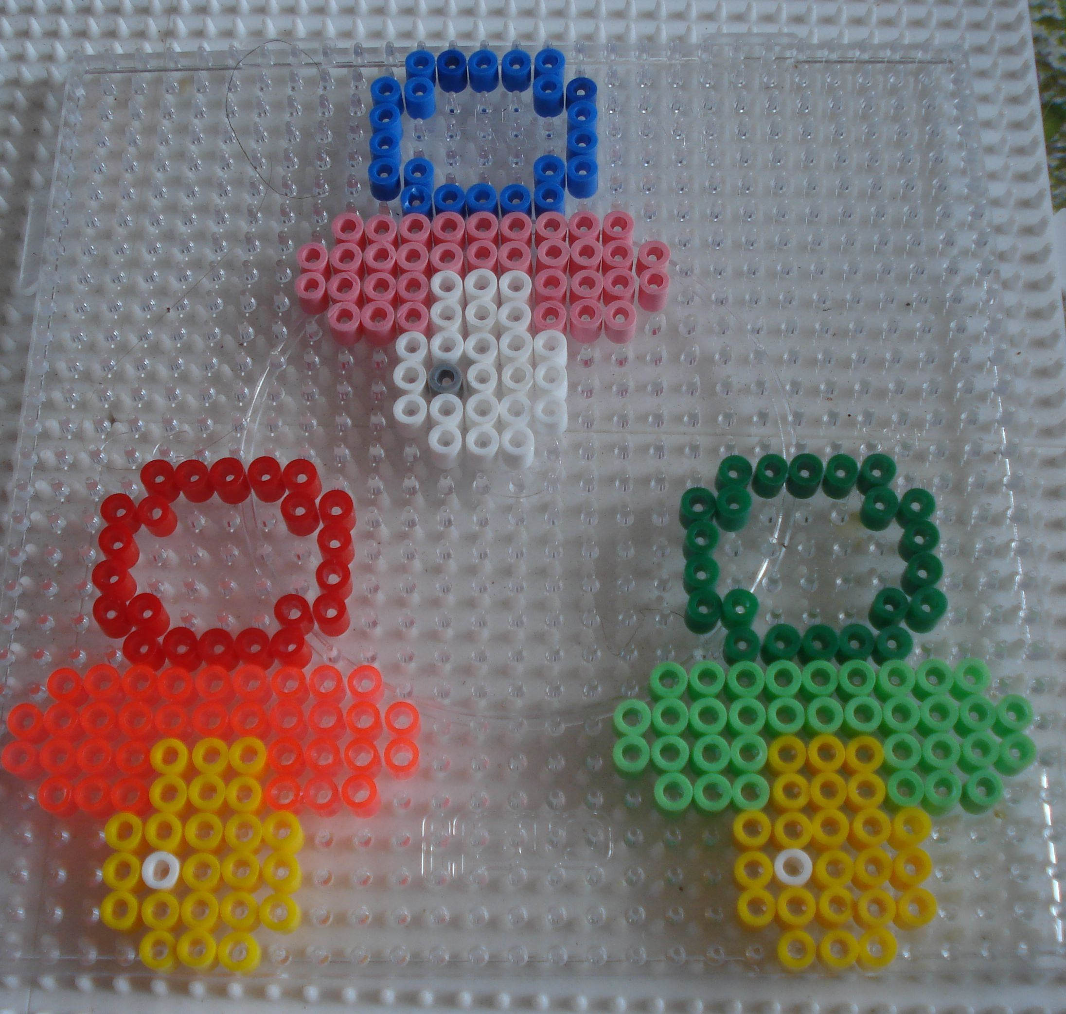 Pacifiers hama perler beads by Chantal Jacquinet
