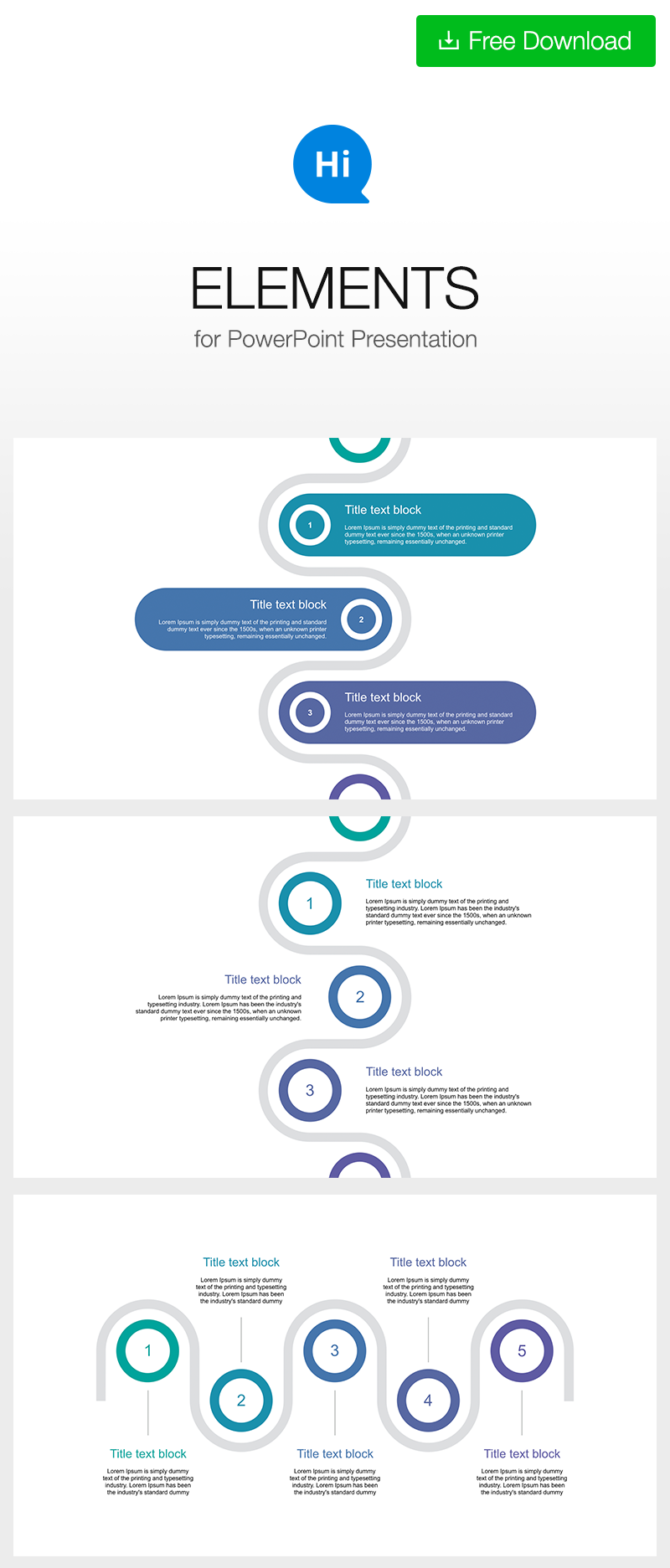 Clean Professional Vertical Layout For Ppt Download Free Now Powerpoint Template Free Timeline Design Powerpoint Timeline Template Free