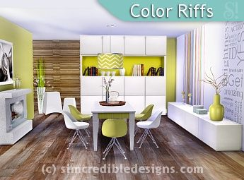 Modern Dining Room For The Sims 4