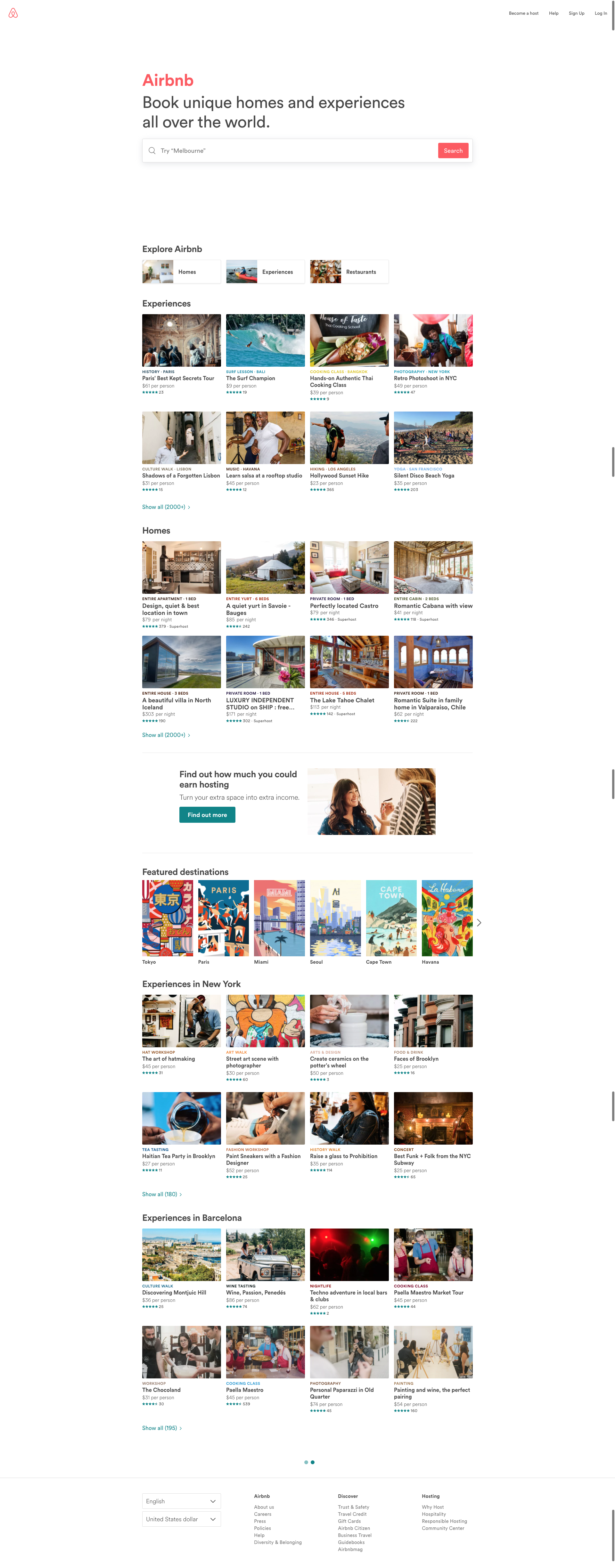 I Love The Design Of Airbnb It S A Great Whitespace In Playing Airbnb Modern Web Design Web Design
