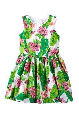 Border Print Dress (Little Girls & Big Girls)