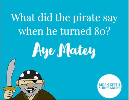 Pirate Joke | Pirate jokes, Jokes, Clean jokes