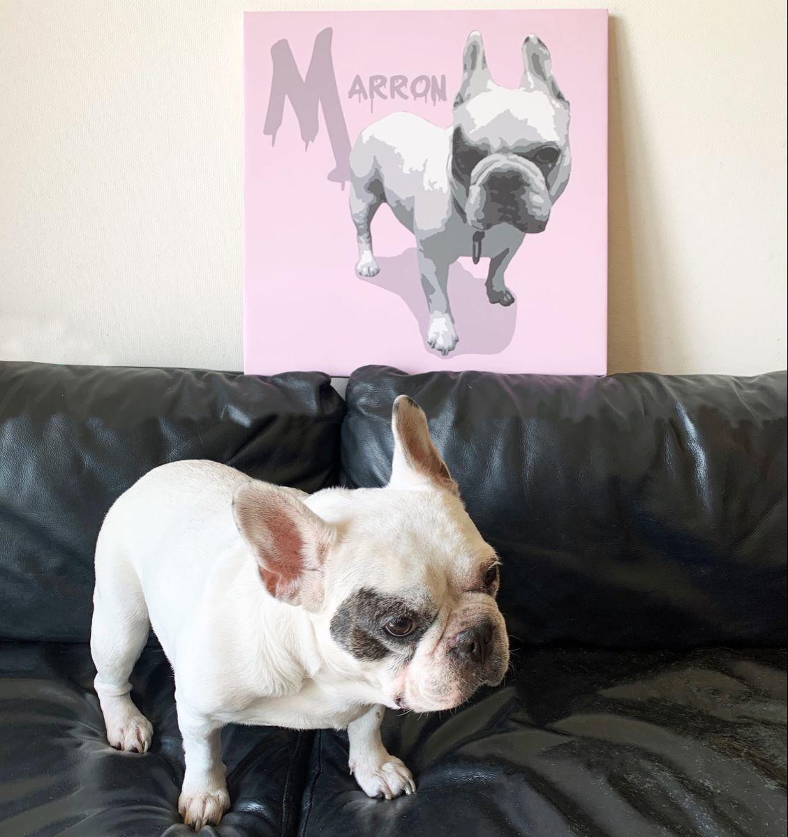 洗練された空間を演出します 可愛い貴方のペットをアートパネルにしてみませんか ペットのイラスト作成 ココナラ ペット アートパネル 可愛いワンちゃん