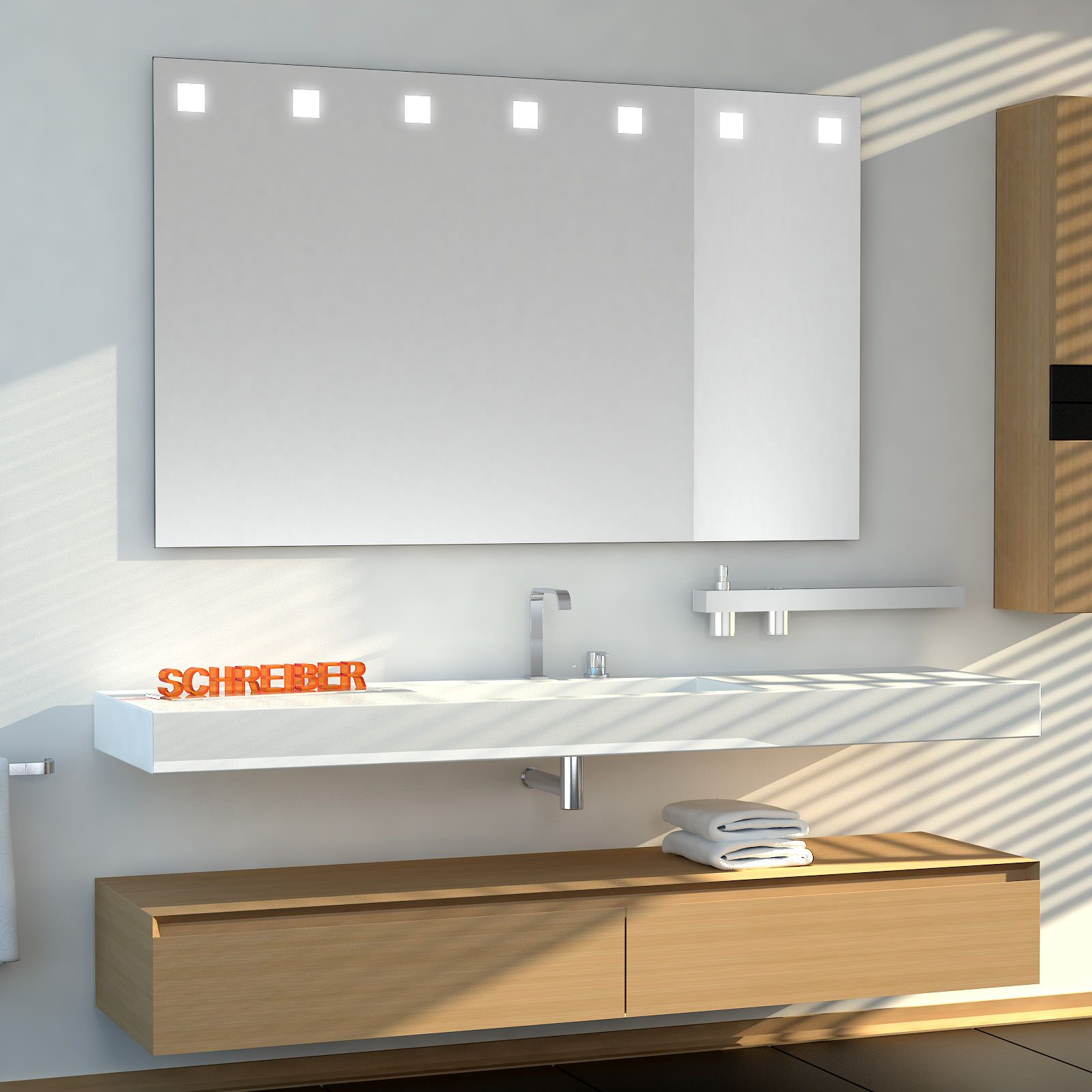 Badezimmerspiegel Carre Top Ledplus Badezimmerspiegel Lichtspiegel Badspiegel