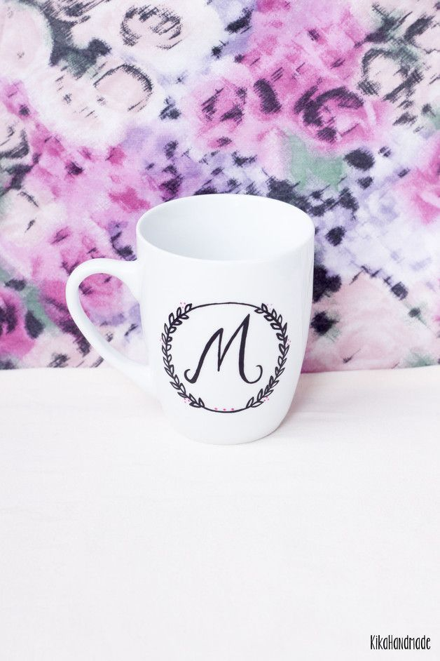 Perfect Gift For Letters Lovers Mugs  Hand Painted Mug With Any