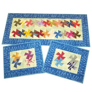 Charmed Twister Table Runner & Placemats Pattern  Amy's Wagon Wheel Creations