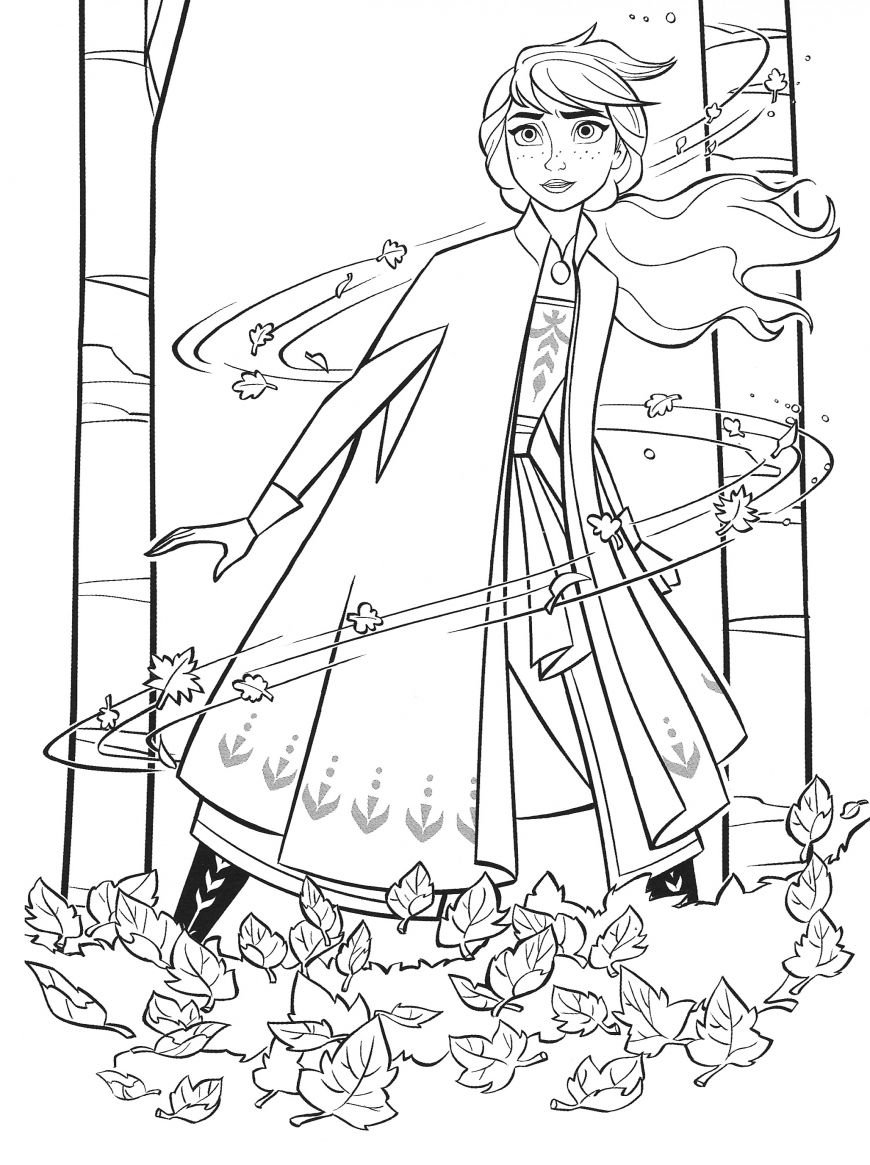 New Frozen 2 coloring pages with Anna en 2020 Dibujos
