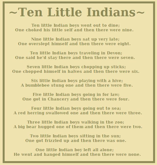 Ten Little Indians Ten Little Indians Agatha Christie