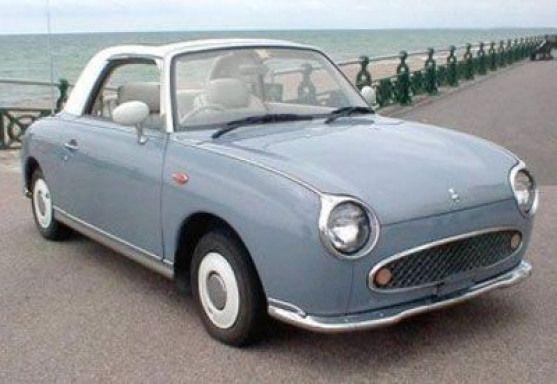 retro futuristic cars | Nissan Figaro #newcars #new #cars #motors