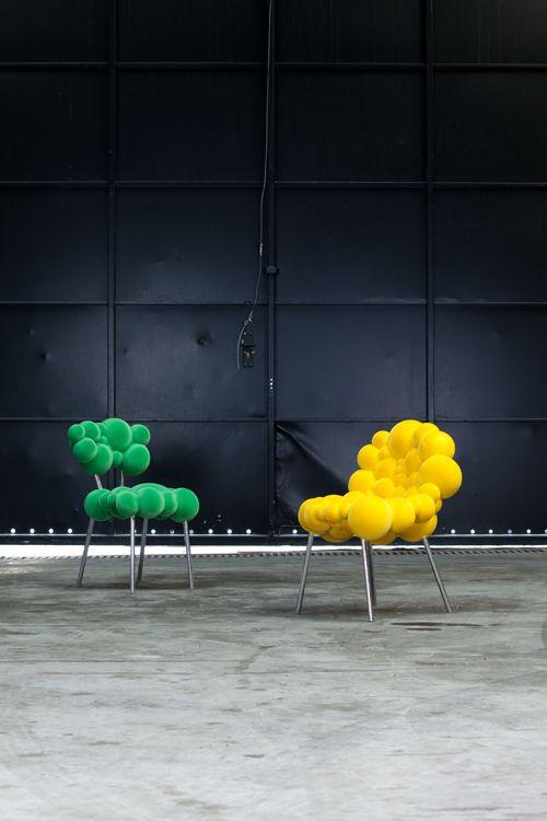 Jedinečný nábytok z bubliniek, o ktorý sa postaral Maarten De Ceulaer