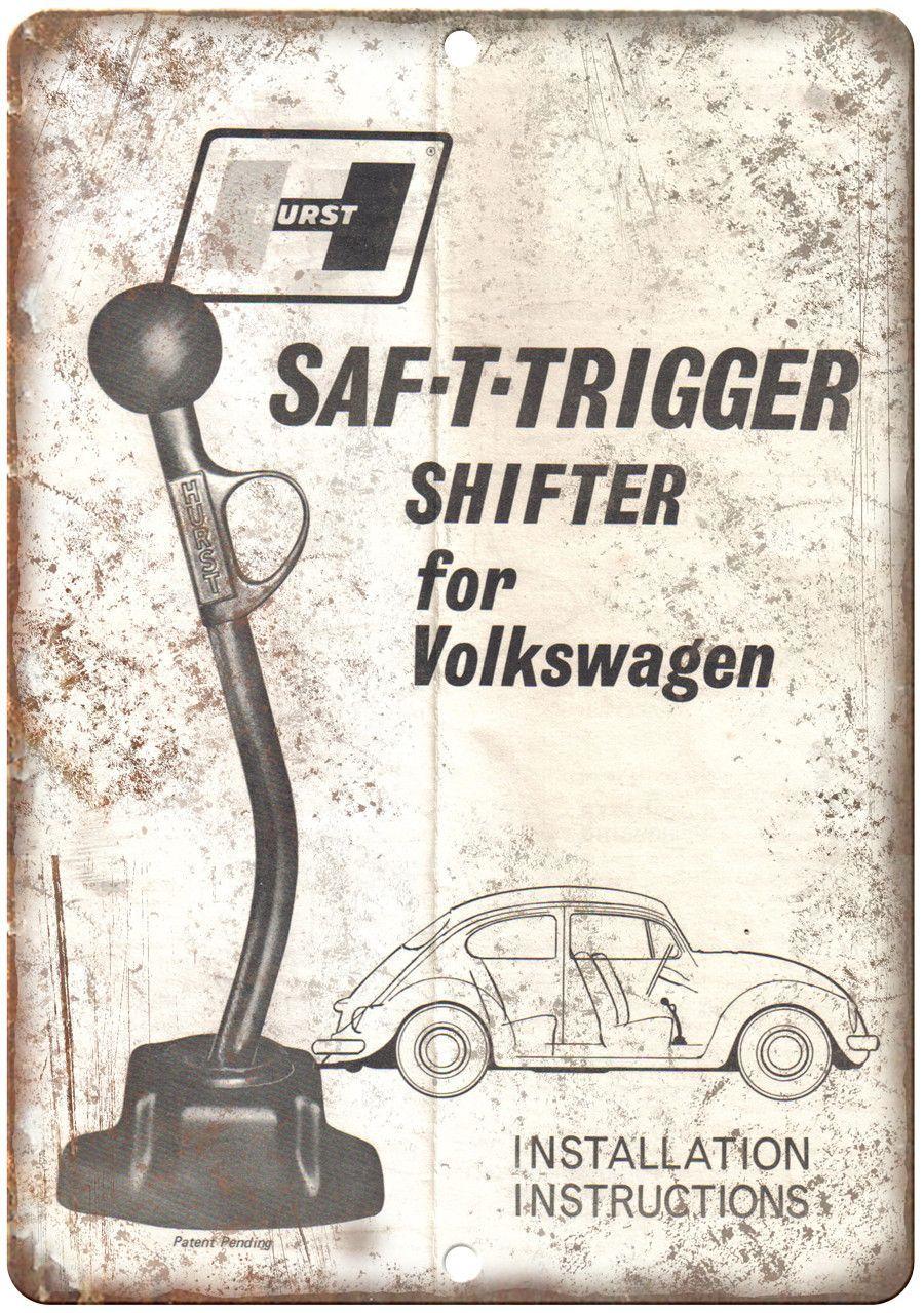 Hurst Performance Volkswager Shifter 10 X 7 Reproduction Metal Sign Volkswagen Vintage Vw Vw Bug