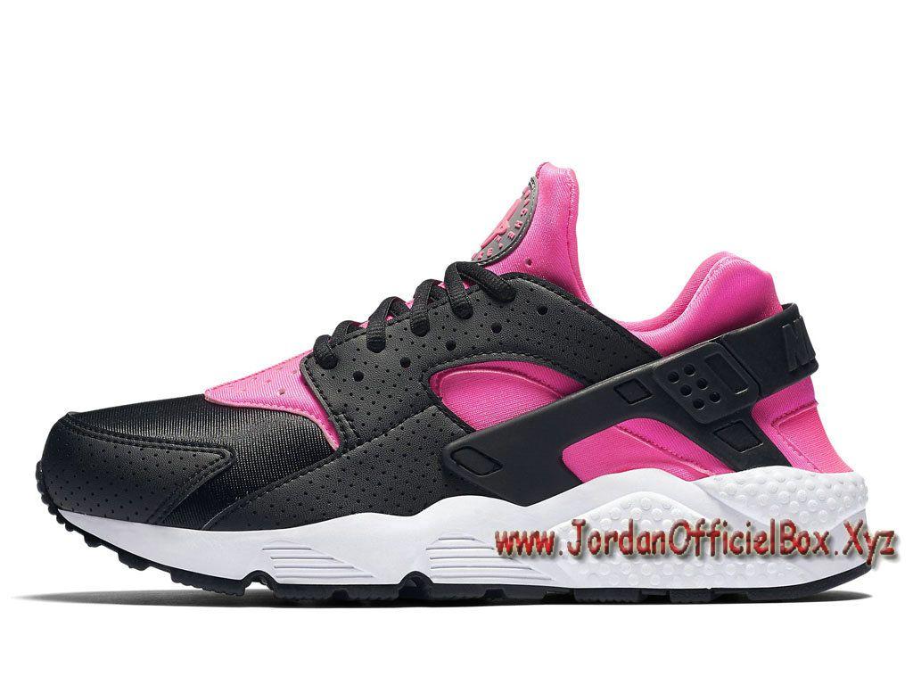 Nike Wmns Air Huarache Run Noir Blanc Femme Noir Vente