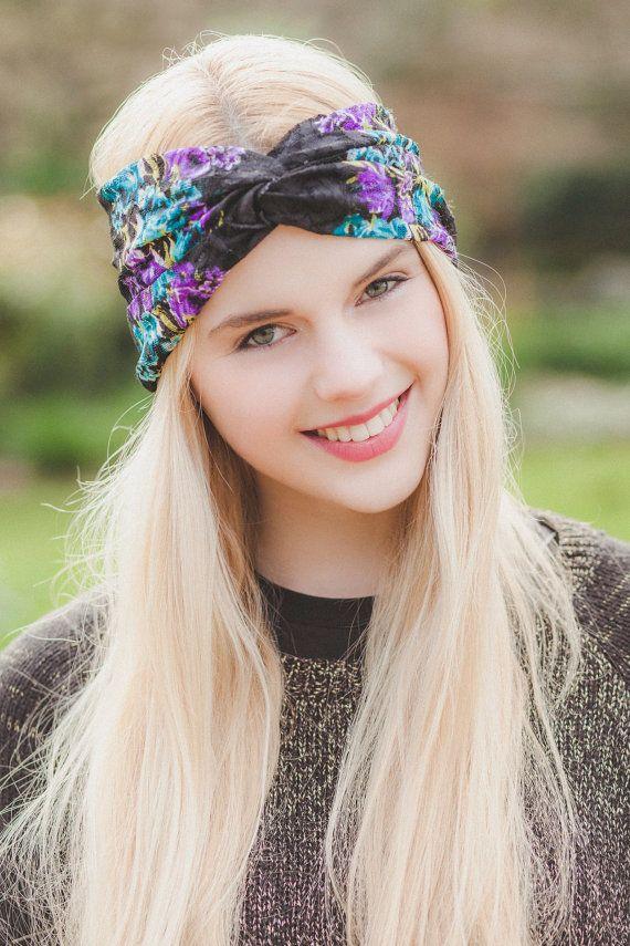 Floral Lace Turban Headband 69f07eb73e1