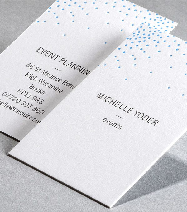 Letterpress Business Card designs - Deco dots   MOO Dreaming of - Letterpress Business Card