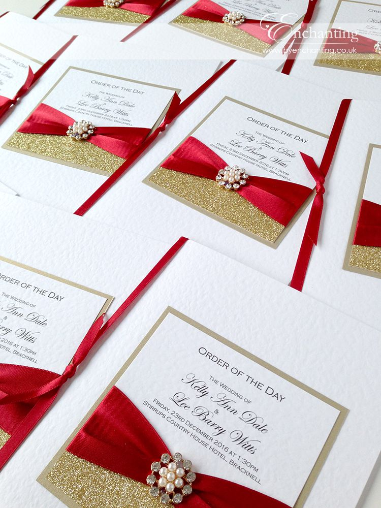 Red and Gold Wedding Stationery | The Cinderella Collection - Order ...