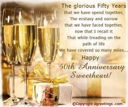 50th Golden Jubilee Wedding Anniversary Wishes For Parents Mom And Dad