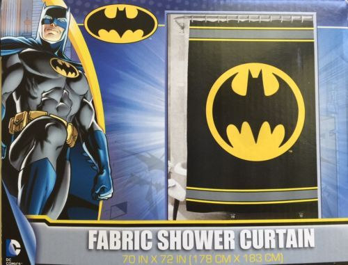 Batman Shower Curtain Fabric 70 X 72 DC Comics Warner Bros Polyester New