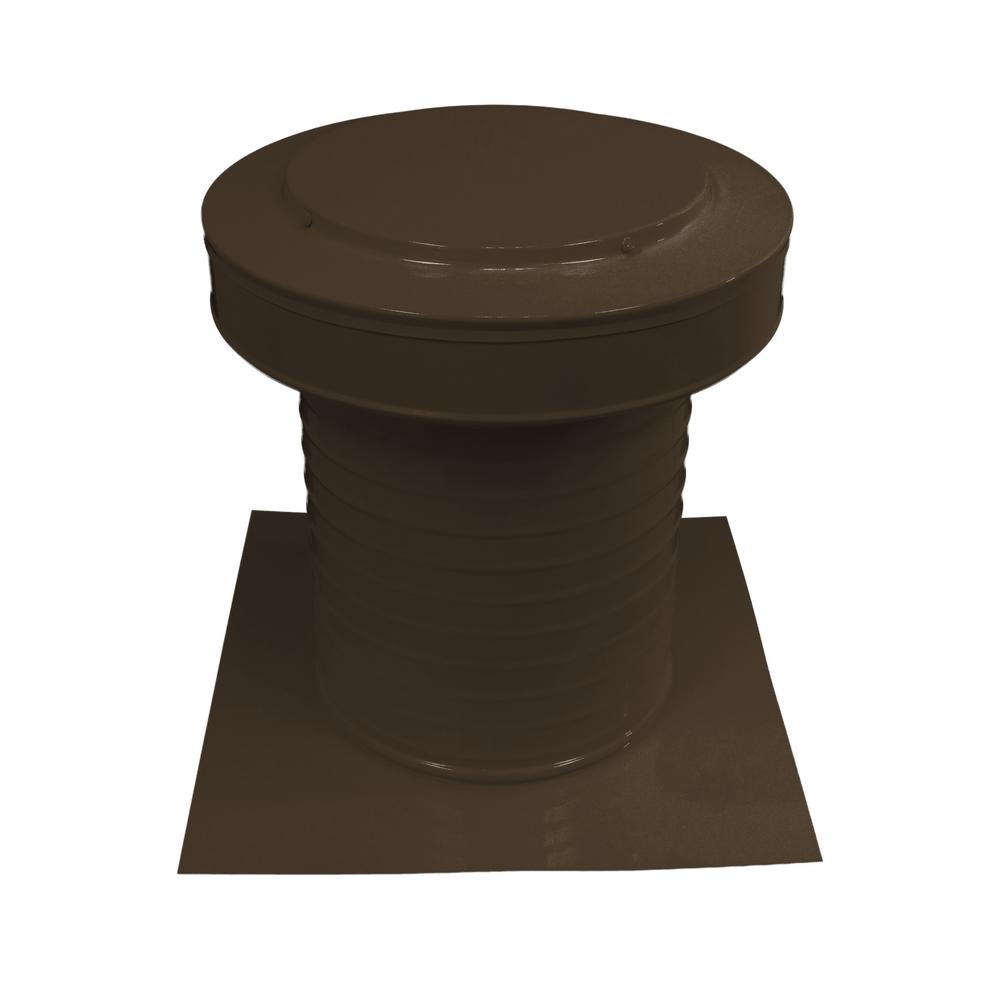 10 In Dia Keepa Vent An Aluminum Static Roof Vent For Flat Roofs In Brown Kv 10 Br The Home Depot In 2020 Roof Vents Flat Roof Roof